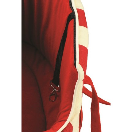 Переноска MARINA красные полоски (34х22х21см)
