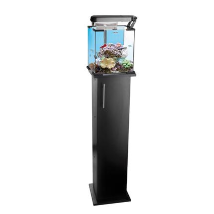 Аквариум морской рифовый с тумбой NANO REEF LEDDY TUBE 30л черный