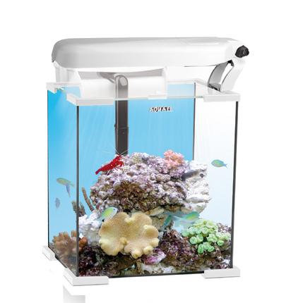 Аквариум морской рифовый с тумбой NANO REEF LEDDY TUBE 30л белый