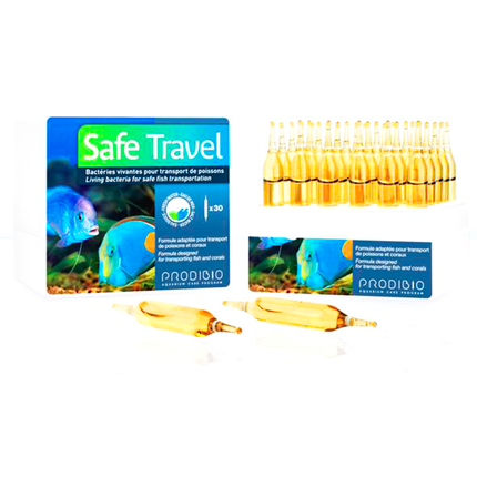 SAFE TRAVEL бактериальный препарат для транспортировки морской и пресноводной рыбы (30шт)